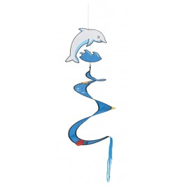 Spiral Dolphin wind sculpture