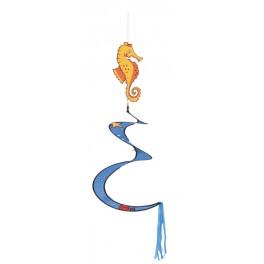 Spiral Seahorse wind sculpture