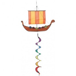 Viking ship Twist Wind Sculpture