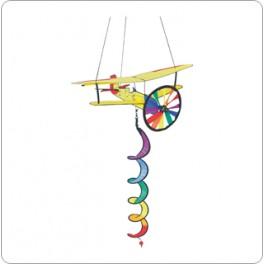 Biplane Twist Wind Sculpture