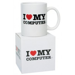 I Love My Computer Novelty Mug