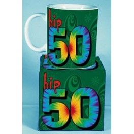 Hip 50th birthday Novelty Mug