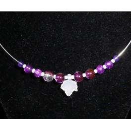 Purple Glass beaded necklace