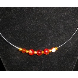 Amber Glass beaded necklace