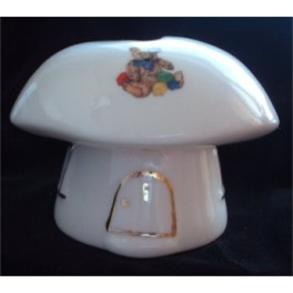 Toadstool House Money Box - Teddies