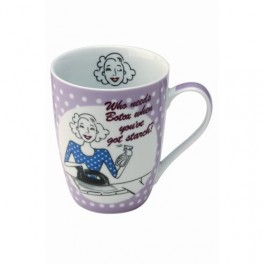 Ironing Domestic Diva Porcelain Mug