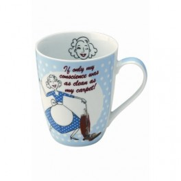 Vacuuming Domestic Diva Porcelain Mug